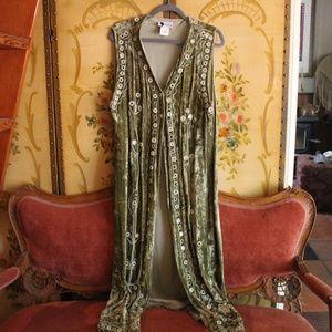 SALE🌼Vintage Dream Green Velvet Janis Joplin Vest